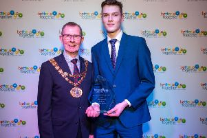 Will Bamford was namedYoung Volunteer of the Year at the South Ribble Council Community Awards.
