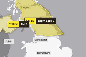 A snow and ice warning is in place from this evening (March 11) until tomorrow morning (March 12). (Credit: Met Office)