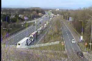 A collision on the M6 southbound has resulted in slow traffic. (Credit: Highways)