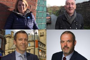 From top left - Katherine Fletcher MP (South Ribble), Sir Lindsay Hoyle MP (Chorley), Alistair Bradley (Chorley Council leader) and Paul Foster (South Ribble Borough Council leader)