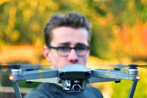 He shot the Youtube video using his drone.