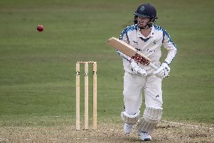 Jonny Tattersall in action for Yorkshire CCC's 2nd XI. Picture: Caught Light Photography