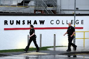 Five people have been arrested following a stabbing at Runshaw College