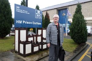John Davidson, chairman of the Independent Monitoring Board of HMP Durham, outside the city centre jail.