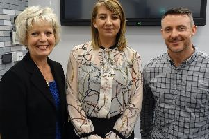 From left, Coun Karen Walton, Cabinet Member for Public Health and Safety, Wellbeing and Environmental at South Ribble Borough Council, Anna-Marie Knipe, chairman of the SRDAA, and internet star Simon McDermott