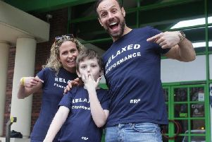 Star Jason Gardiner, Maria and Ryan Cook promoting the Relaxed Performance campaign