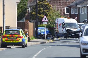 The crash happened in Severn Drive, close to Walton-le-Dale Primary School, at 7.20am (Tuesday, May 14).