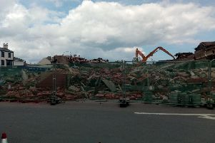 The Longscar building being removed from Seaton Carew skyline.