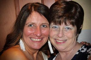 Debbie Valentine and her sister Elaine Cockcroft