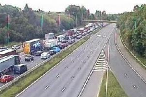 The M6 has been closed in both directions after a man fell from a bridge over the northbound carriageway at around 9.30am (May 20)