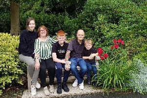 Lorraine and Martin Smythies, with their children Louie, Cameron, Chloe at St Catherines Hospice