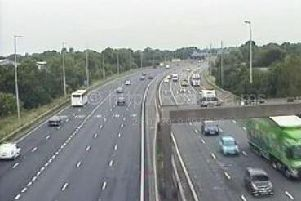 All three lanes and the hard shoulder of the M6 southbound carriageway between junctions 37 and 36 will be resurfaced