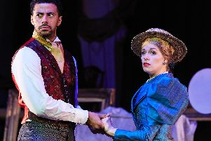 Dean Fagan and Elizabeth Twells in The Importance of Being Earnest at The Octagon. Photo credit: The Other Richard.