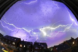 A time lapse of the lightning storm over Buckshaw Village last night/this morning Pic: Iain Lynn