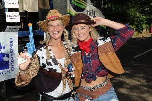 Cow girls on the parade.
