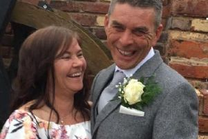 Colin Whiteside, 52, leaves behind his wife Caroline (pictured) and two daughters Michelle and Shannon. . Pic: Caroline Whiteside