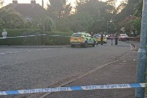 A resident, who does not wish to be named, took this picture of the scene cordoned off after the attempted shooting yesterday (August 26).