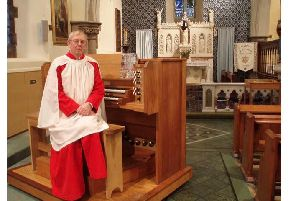 Brian Dickinson played the organ in Garstang for more than 30 years.