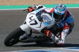 Wilson Racing's Fenton Seabright in action in Jerez, Spain. (PHOTO BY: Agusti Nubiola).