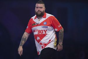 Michael Smith suffered a shock defeat in the world championships. Picture: PDC.TV