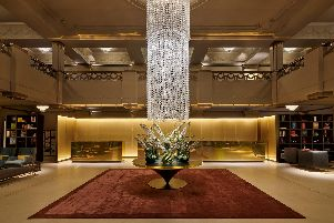 The lobby. Photo by Hotel Cafe Royal.