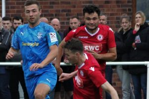Ryan McKenna helped Longridge Town to FA Vase victory last weekend         Picture: Peter Naylor