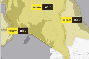 A yellow weather warning is in place for parts of Lancashire for tonight and tomorrow (Met Office map).