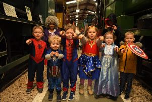 Superhero day at Ribble Steam Railway and Museum.