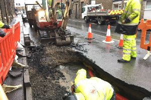 Investigations are continuing into the cause of a sinkhole which has appeared on Inglewhite Road in Longridge