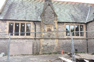 The new windows which had been installed at Thornley Community Space