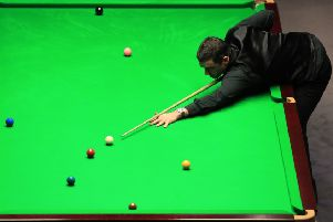 Ronnie O'Sullivan during his match with Martin O'Donnell.