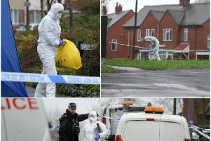 The scene of the murder investigation in Village Drive, off Pope Lane, Ribbleton on February 7.