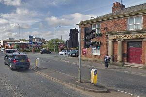 The 33-year-old victim was cycling along Garstang Road, Preston when he was attacked by two men on a moped on February, 19 at 8.25pm.