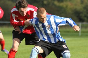 Danny Wilkinson scored twice for Longridge Town