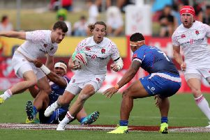 Dan BIbby in action for England