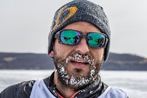 A frozen beard was one of the many hazards Daniel Jones had to contend with when he took part in a 100 mile race across in Outer Mongolia, said to be the coldest place outside of Antarctica.