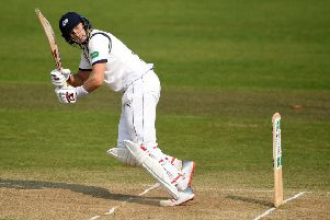 NOTTINGHAM, ENGLAND - APRIL 08: Joe Root of Yorkshire bats during Specsavers County Championship Division One match between Nottinghamshire and Yorkshire at Trent Bridge on April 08, 2019 in Nottingham, England. (Photo by Gareth Copley/Getty Images)
