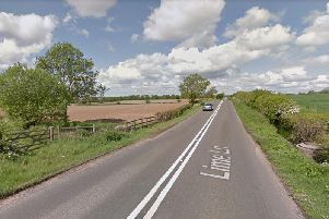 Lime Lane, Arnold, where the burnt out car was found.
