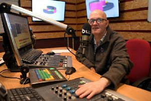 Back on the air . . . presenter Nigel James of Beat Radio.