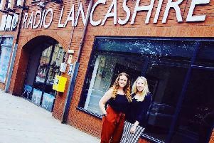 Gem and Nic outside BBC Radio Lancashire. Picture by Blake Ray