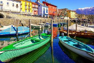 Ascona on the Swiss shores of Lake Maggiore. (PA).