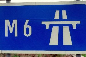 The M6 was shut southbound between junctions 41 and 40 in Cumbria