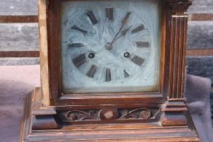 The clock which is now in the possession of Katrina Thomas, from Chepstow
