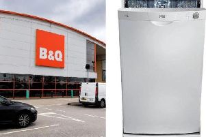 B&Q has recalled its Lewis and Cooke freestanding dishwashers due to fears that they could catch fire