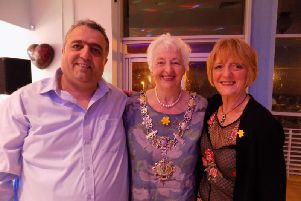 Anatolia restaurant proprietor Veli Kirk, Fylde mayor and St Annes Carnival committee chairman Angela Jacques and Margaret Gregory from Marie Curie Fundraising at the Turkish Night at the Anatolia Restaurant