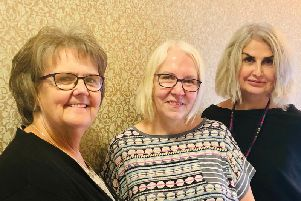 From left to right, Val Mackay, Cheryl Nolan and Hayley Rowson de Vares