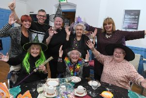 Olive Davies enjoyed a Halloween-themed birthday party at Claremont First Step Community Centre with her family and friends