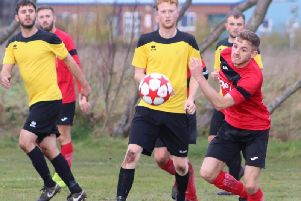 Sunday Alliance action between Lancashire Double Glazing and Clarence  Picture: KAREN TEBBUTT