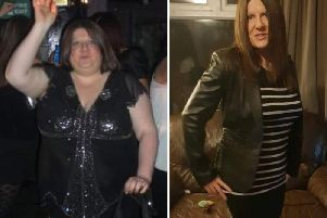 Kelly Redfern managed to shed half her body weight. Here's the before and after pics.