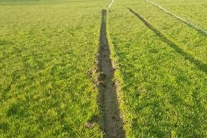 The deep grooves on the playing fields used by Kirkham Junior FC (Image: Kirkham Junior FC)